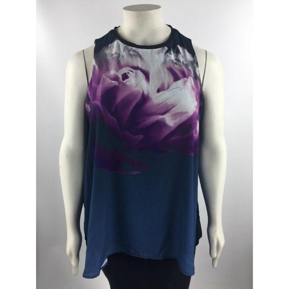 d3f08356d9f686 Alfani Womens Print Blouse Top Size 16w H816